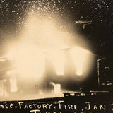 Condense Factory Fire at Night, 1908 Real Photo Postcard
