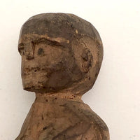 Tiny Carved Wood Nude Woman