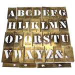 Reese's Interlocking 2 Inch Brass Alphabet Stencils, Complete Set