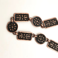 Mid-Century Handcrafted Copper Choker Necklace