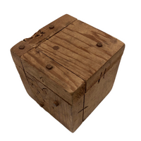 Charming Old Folk Art Puzzle Cube