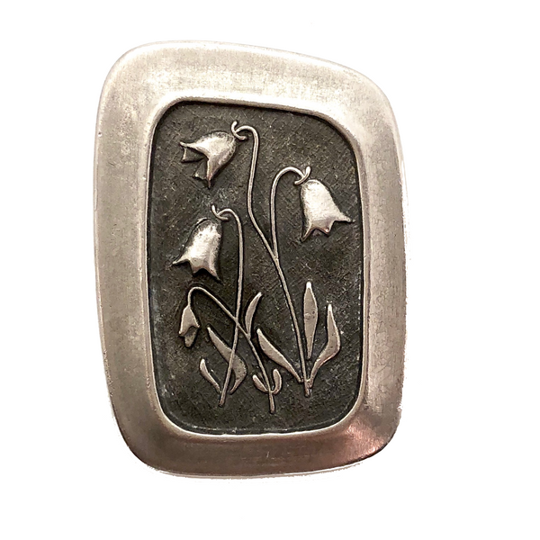 Mid-Century Swedish  Lily of the Valley Pin by Rune Tennesmed