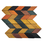 Old Handmade Wooden Parquetry Blocks with Great Color
