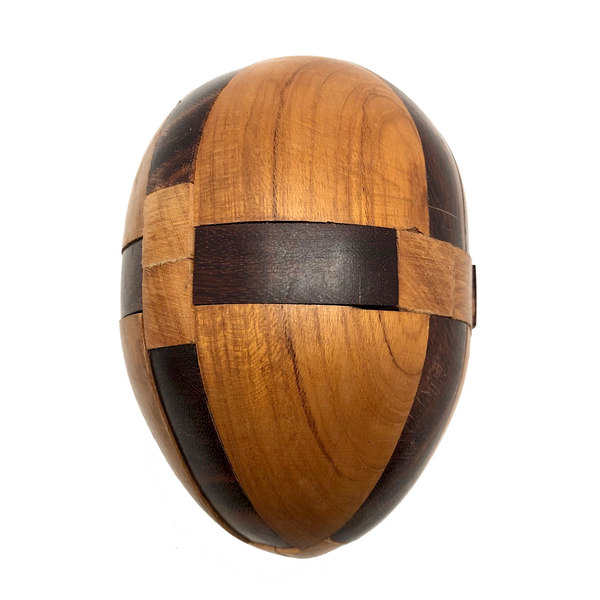 Japanese Vintage Wooden Interlocking Puzzle Egg