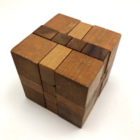 Japanese Vintage Wooden Puzzle Cubes - Sold Individually