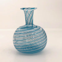 Murano Glass Blue and White Swirl Bud Vase