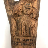 Damn the Torpedoes, Ft. Morgan, Civil War Related Folk Art Carving