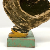 Expressionistically Painted Duck Folk Art Doorstop, c. 1930s