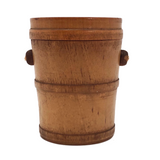 Bucket Shaped 19th Century Treenware Box with Side Handles