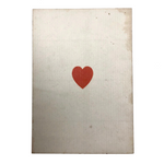 Ace of Hearts Antique Square Corner Playing Card