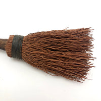Primitive Straw Brush with Unfinished Wood Handle