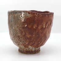 Hand-formed Shino Glazed Tea Bowl or Chawan