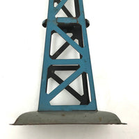 German Blue and Orange Tin Toy Windmill