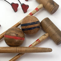 Early 20th Century Table Croquet Set
