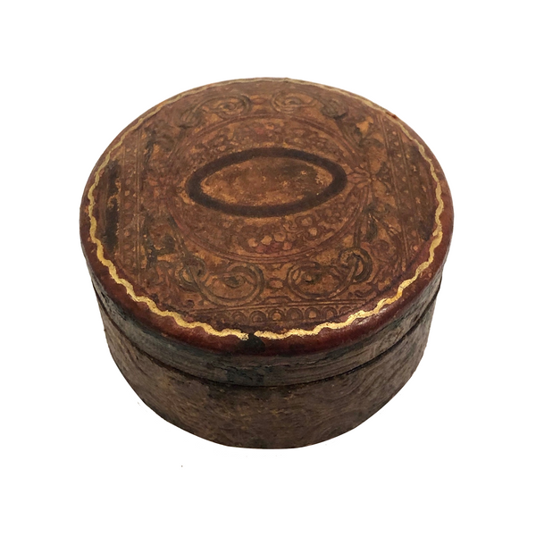 Embossed Leather Trinket Box
