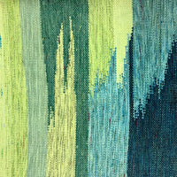 Japanese Woven Wool Textile in Greens and Blues