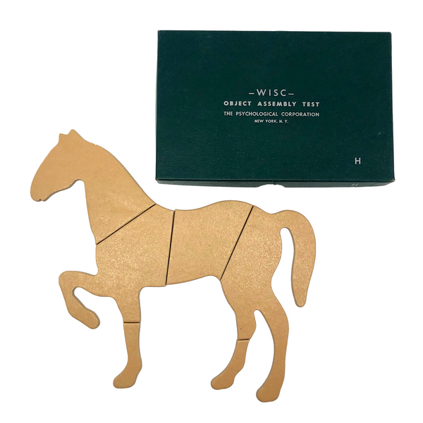 WISC (Wechsler Intelligence Scale for Children) 1949 Object Assembly Test Puzzle: Horse