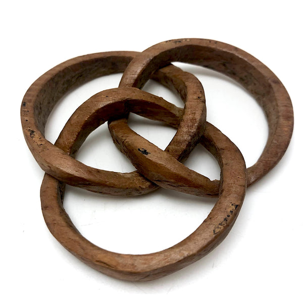 Three Interlocking Rings Old Carved Whimsy