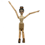 Carved, Jointed Wooden Ballerina Mannequin, Signed