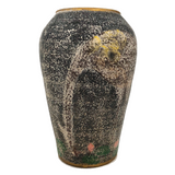 Unusual Hand-Painted Pottery Vase With Large Birds