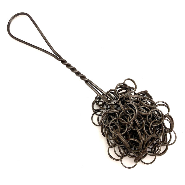 Linked Loops Antique Metal Pot Scrubber