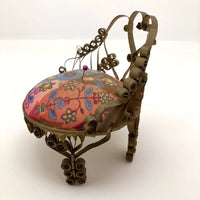 Gold Painted Tin Can Trampy Pin Cushion Chair