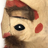 Handmade Hide and Fur Mask with Double Eyes, Presumed Nunamiut, Alaskan