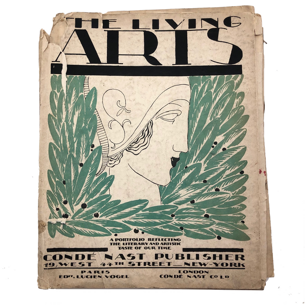 The Living Arts: A Portfolio, Issues No. 1 and No. 3, Ed. Lucien Vogel, 1921-22