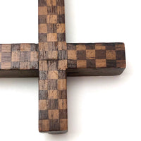 (SOLD - Hold for KA) Wonderful Checkerboard Pattern Inlay Wooden Frame