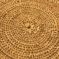 Large, Finely Woven Grass Winnowing or Fanner Style Basket