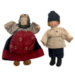 Darling Little Russian Folk Boy and Girl Doll Pair, c. 1930s