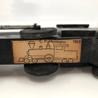 Antique Strombecker Wooden Train Set - Four Locomotives Plus Eight Cars