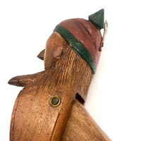 Super Folky Old Hand-carved Nutcracker with Great Face
