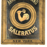 Arm and Hammer Salerutus Gorgeous Late 19th C Trade Card