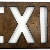 Steel Cutout EXIT Box Sign with Copper Finish