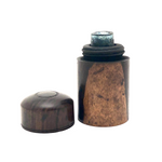 Lovely 19th Century Lignum Vitae Travelling Ink Bottle
