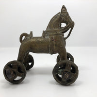 Indian Antique Brass Horse Temple Toy
