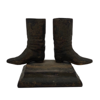 Antique Cast Iron Western Style Boots Match Safe