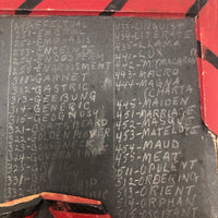 Ingenious Cheater's School Slate with Spelling Words and Secret Sidebars