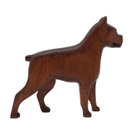 Hand-carved Wooden Boxer Dog