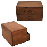 J.T Swann Co. Two Drawer Admirals Wooden Cigar Chest
