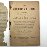 "Dr. B.J Kimball's ""The Doctor at Home"" 1883 Medical Guide for Humans and Horses!"