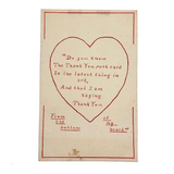 "Hand-drawn ""The Thank You is the Latest Thing in Art"" Antique Postcard"