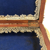 Excellent Antique Shellwork Jewelry Box