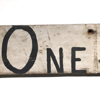 One Way Arrow Great Old Handmade Wooden Sign