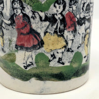 Blind Man's Buff Antique Staffordshire Pearlware Child's Cup