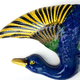 Japanese Hand-Painted Duck-Shaped Wall Pocket
