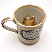 Sunderland Early 19th Century Lustreware Mug with Frog Inside!