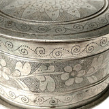 Banka Blinjoe Indonesian Pewter Box With Finely Engraved Decoration