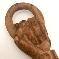 Carved Folk Art Hand Hanger or Knocker